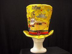 Yellow Submarine Beatles Mad Hatter! Yellow Submarine themed birthday, the beatles, beatles themed birthday, kids party ideas, beatles hat, yellow submarine hat, yellow mad hatter, 1960s hat, hippie
