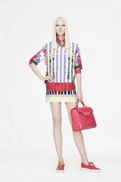 Versace   Cruise/Resort 2015 Collection via Donatella Versace   New York; June 6, 2014   Style.com