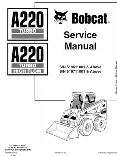149 Best Bobcat Manuals images in 2019 | Manual, Repair