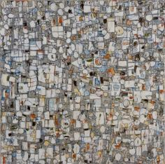 Jean Glenn Abstracts - Warm Grey/White 2008 48x48 Oil - SOLD