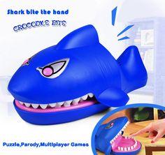 Shark Bulldog Crocodile Bite Dentist Finger Practical Jokes Gag Novelty Toys Funny Party Home Game for Kids Children