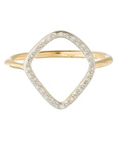 Monica Vinader Gold Vermeil Diamond Riva Hoop Ring | Jewellery | Liberty.co.uk