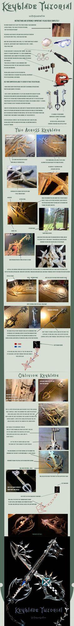 TWO EPIC Keyblade Tutorials ----- TIIIIIIIIMBER!!!! KAAAATIEEEE!!!! Lookit what I found!!!!! o_O