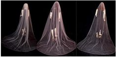 Different fullness options for long veils so they remain sheer at the top and not full on the sides.