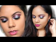 Purple & Silver Shimmer - New Years Eve Makeup Tutorial New Years Eve Makeup, Makeup Tutorials Youtube, Stage, Eyeshadow, Make Up, Purple, Silver, Jewelry, Eye Shadow