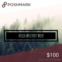 """$100 Mega Mystery Box! ⭐️This mystery box will be $100+ worth of super cute clothes, shoes, accessories, makeup, etc! ⭐️All items are authentic, in MINT condition, most items NWT!  ⭐️Items will be chosen from listings in my closet, as well as items not yet listed. ⭐️After purchasing, comment below with sizing criteria and if you wish, a bit about your likes and dislikes! (For example, """"I hate the color purple!"""" """"I'm obsessed with scarves!"""" """"I'm totally into the velvet trend right now"""" """"my…"""