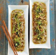 Tetsuya's Warm Flathead Carpaccio With Black Bean Dressing - eatlove