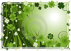 vintage wooden background with st patrick day greeting with