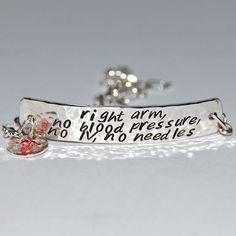 NEED Lymphedema alert bracelet ASAP Silver Medical Alert Bracelet  Wide version by TheSilverArtisan, $62.00