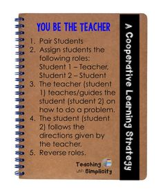 You Be the Teacher ~