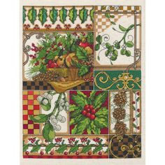 """Winter Montage Counted Cross Stitch Kit-11""""X14"""" 14 Count"""