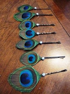 Peacock Bobby Pins- great stocking stuffer!!