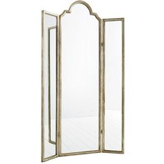 Percy Floor Mirror (1,800 CAD) ❤ liked on Polyvore featuring home, home decor, mirrors, three-panel, 3-panel, tri fold mirror, tri fold floor mirror and hinged mirror
