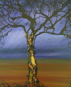 Original Contemporary Modern ''Purple Tree Of Life''  Art Painting By Sena Tidwell. $259.00, via Etsy.