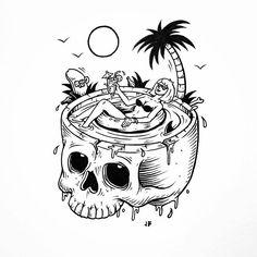 Unwinding the coils in Palm Springs #jamiebrowneart #palmsprings #skull…