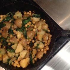 Sautéed Chickpeas, Kale and Potatoes