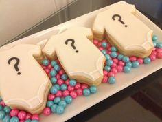 Gender Reveal Cookies by ASweetMorselCo on Etsy Gender Reveal Cookies, Gender Reveal Themes, Baby Shower Gender Reveal, Baby Gender, Crazy Cookies, Dog Cookies, Cute Cookies, Sugar Cookies, Baby Shower Cookies