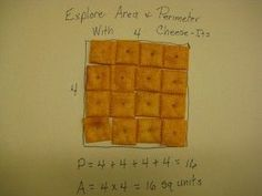 Area and Perimeter...It ALWAYS helps to use food in a lesson!