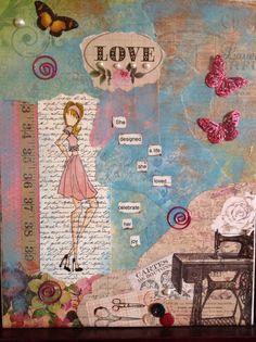 She designed a life she loved...celebrate her joy!...She art by Cara...