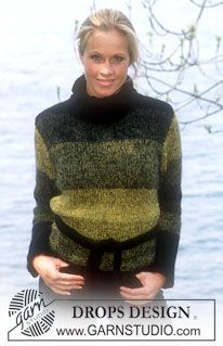 Ravelry: Pullover pattern by DROPS design Chunky Knitting Patterns, Crotchet Patterns, Knitting Charts, Free Knitting, Drops Design, Tweed, Garnstudio Drops, Yarn Color Combinations, Pull Long