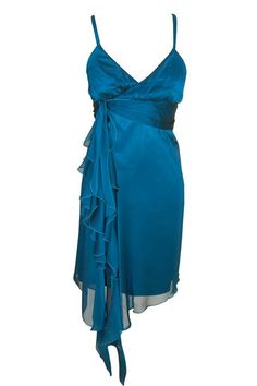That Special Dress: Charas - Turquoise waterfall dress.