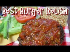 B&g Recipes : The Best Burger Relish ~ Homemade Hamburger Relish Recipe - B&g Recipes Video B&g Recipes This burger relish is so delicious with hints of sweet, sour and spicy. The hamburger relish is a great condiment for the Mustard Pickle Relish Recipe, Red Relish Recipe, Hamburger Relish Recipe, Sauce Hamburger, Relish Sauce, Relish Recipes, Canning Recipes, Sauce Recipes, Drink Recipes