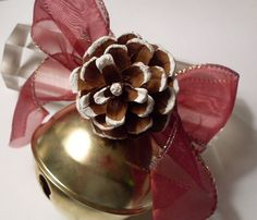 Reserved For Bljulius - Christmas Decorations - Sleigh Bells With Pine Cone…