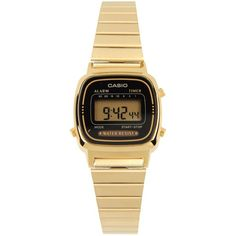CASIO Wrist watch ($79) ❤ liked on Polyvore featuring jewelry, watches, accessories, gold, casio wrist watch, casio watches, casio, stainless steel watches and stainless steel jewellery
