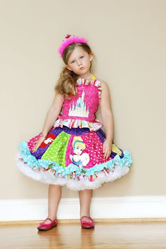 Custom Boutique Pageant Over the Top Princess Twirl Skirt Set. $130.00, via Etsy.