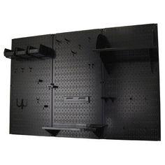 Amazon.co.jp: Wall Control 30-WRK-400 BB Pegboard Organizer Metal Standard Tool Storage Kit Accessories, 4', Black/Black [並行輸入品]: DIY・工具