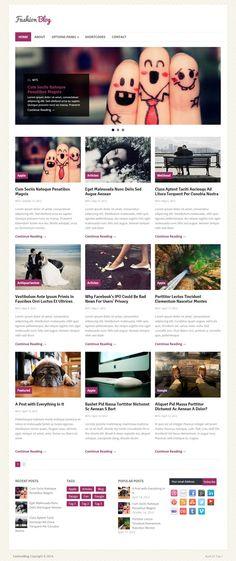 FashionBlog WordPress Theme  #WPTheme #WebDesign #Blog #Responsive   #ThemeHouse