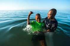 Children from the Greta home in Haiti are baptized after receiving Christ