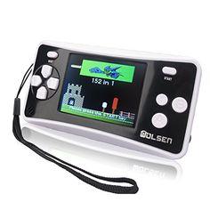 WOLSEN 2.5 Color Portable Handheld Game Console w/152 Games & speaker (BLACK)