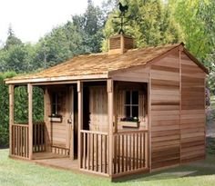 Ranch House Cedar Storage Shed Kit With Porch 4 Sizes Available Storageshedsoutlet Garden Sheds