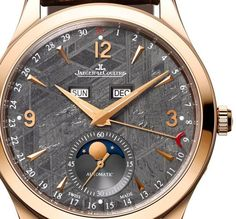 Jaeger-LeCoultre Master Calendar with meteorite stone dial in rose gold case