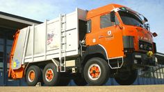 Saurer-garbage collector truck