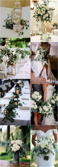 Eucalyptus green wedding color ideas \/