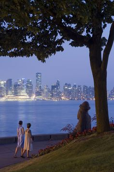 Stanley Park Seawall, Vancouver. Breathtakingly beautiful. Go for a refreshing morning jog or take a stroll at night.