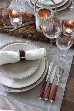 rustic winter table scape