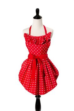 Buy Simply Savvy Co Sweetheart MadeinUSA Double Lined Vintage Retro Apron for Women Red - Topvintagestyle.com ✓ FREE DELIVERY possible on eligible purchases