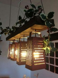 That's one way to use a cheese grater. Fun over a kitchen island or bar.