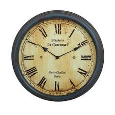 Privilege Vintage Wall Clock In Vintage Blue - Beyond the Rack