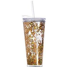 Large Confetti Tumblers with Straw