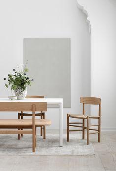 3171 bench j39 chair designed by borge mogensen leather vegetal nature 90 natural
