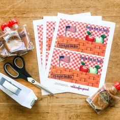 The first of July printable was such a hit, I decided to do another! Use these printables to create a kid fri… Happy 4 Of July, 4th Of July, Cookout Food, Toddler Snacks, Halloween Snacks, School Parties, God Bless America, Healthy Snacks, Celebrations