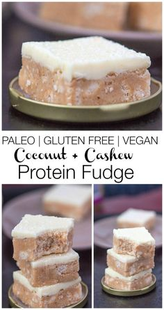 1 1/4 cups coconut flour, sifted 4 scoops of paleo protein powder, vanilla flavoured (for vegan option- I used a brown rice vanilla) 1/4 cup chopped cashews 1/2 tsp sea salt 1/4- 3/4 cup cartoned coconut or almond milk* (PLEASE SEE NOTE) Sweetener of choice* For the fudge frosting- (Paleo version) 1 cup coconut oil, at room temperature 1/2 cup raw honey 1 tsp vanilla