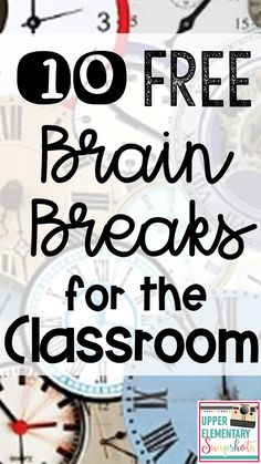 Students need frequent brain breaks in the classroom for better attention and increased learning! Find 12 FREE Brain Break ideas your students will enjoy in this post.