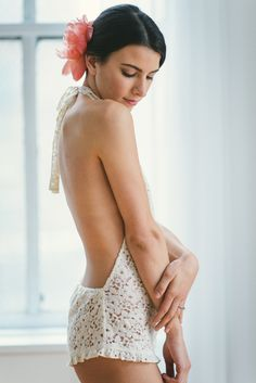 Backless romper: http://www.stylemepretty.com/collection/2349/