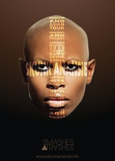 skin Tour Posters, Music Posters, Skunk Anansie, Grafik Design, First They Came, Potpourri, In A Heartbeat, Bee, Inspiration
