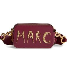 Main Image - MARC JACOBS Flashed Snapshot Leather Crossbody Bag
